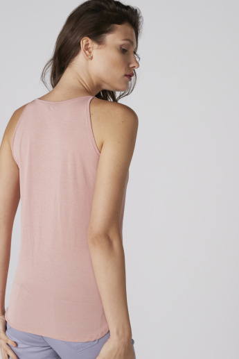 Round Neck Top with Spagetti Straps