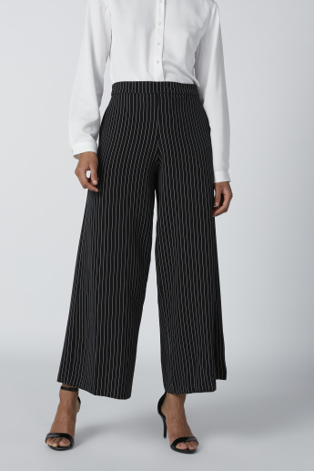 Pinstripe Trousers with Pocket Detail