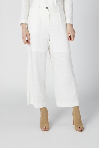 Sustainability High-Rise Palazzo Pants with Pocket Detail