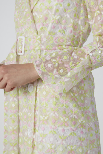 Longline Embroidered Coat