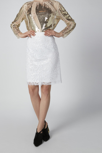 Embellished Bodycon Mini Skirt