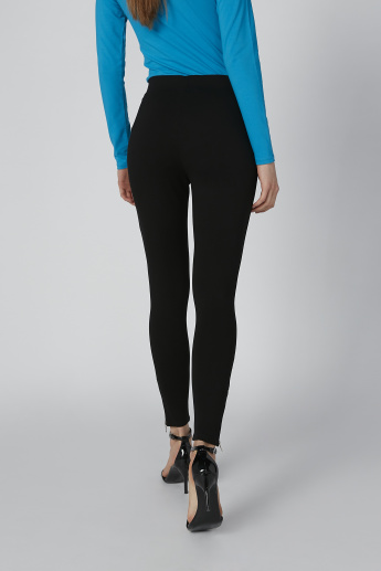 Plain Jeggings with Zip Detail and Elasticised Waistband