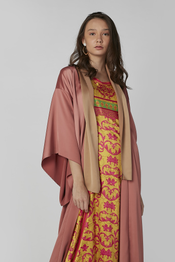 Plain Longline Jacket with Flared Sleeves