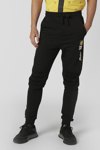Sustainability Slim Fit Printed Jog Pants with Drawstring Closure