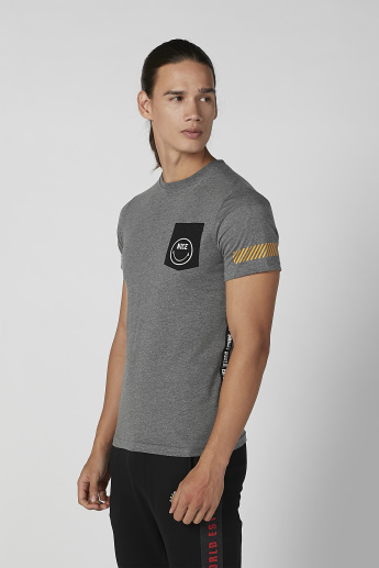 Sustainable Smiley World Printed T-shirt with Crew Neck
