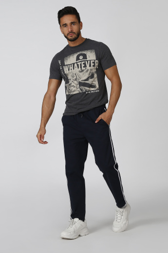 Sustainable Slim Fit Printed T-shirt with Short Sleeves