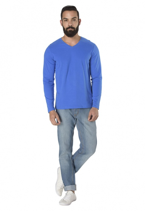 Long Sleeves V-neck T-shirt