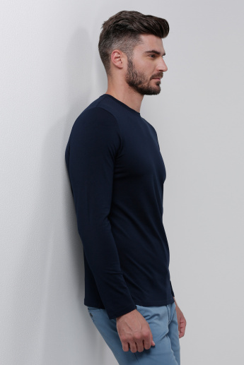Crew Neck T-Shirt with Long Sleeves
