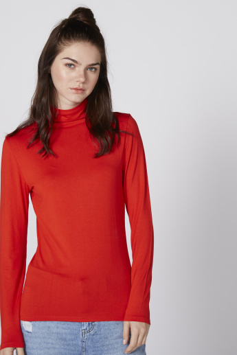 Turtle Neck Top with Long Sleeves