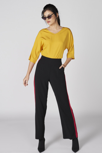 V-Neck Top with 3/4 Sleeves