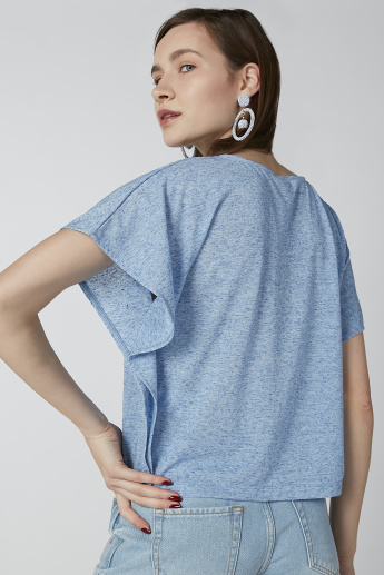 Solid T-shirt with Flared Sleeves
