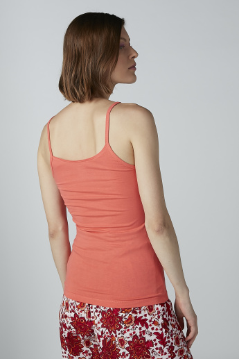 Plain Camisole with Scoop Neck and Straps