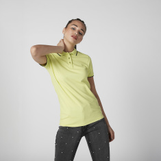 Sustainable Slim Fit Tipping Detail T-shirt with Polo Neck