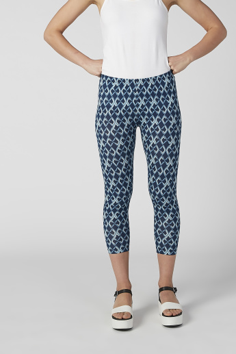 Printed 3/4 Leggings with Elasticised Waistband