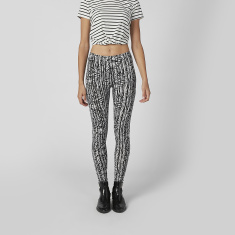 Printed Teggings with Elasticised Waistband