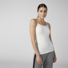 Plain Camisole with Scoop Neck and Spaghettic Straps