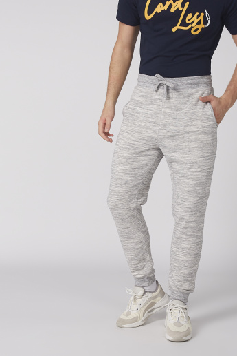 Melange Printed Full Length Jog Pants with Elasticised Waistband