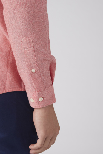 Collared Shirt with Long Sleeves and Complete Placket