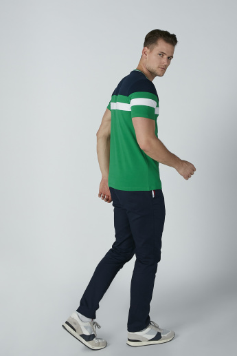 Sustainability Colourblock Slim-Fit T-Shirt with Crew Neck