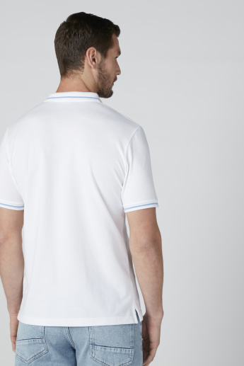 Sustainable Polo Neck T-Shirt with Short Sleeves