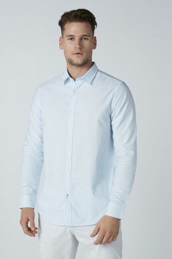 Striped Formal Shirt with Long Sleeves