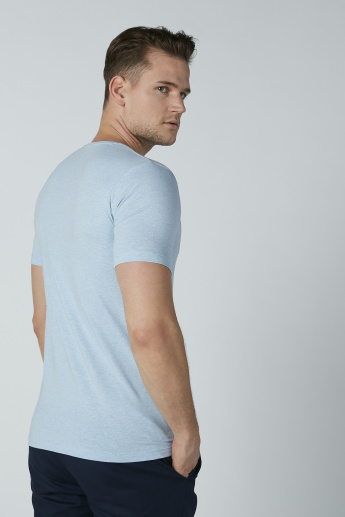 Plain T-shirt with Short Sleeves and Crew Neck