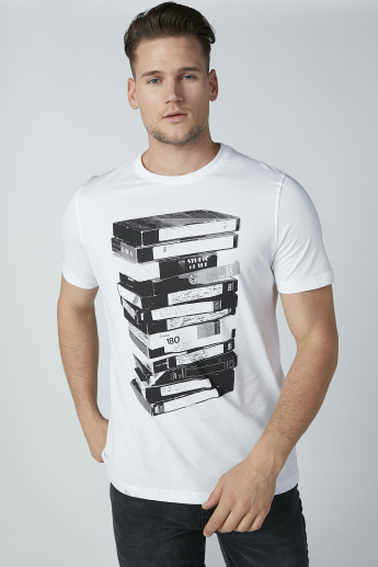 Sustainable Printed T-shirt with Short Sleeves