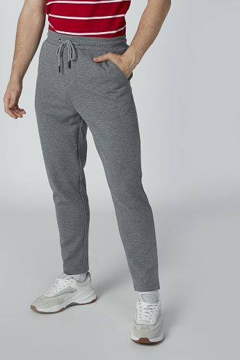 Plain Pants with Drawstring Closure and Pocket Detail