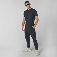 Sustainable Plain T-shirt with Henley Neck and Short Sleeves