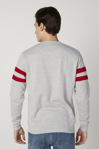 Sustainability Plain Sweatshirt with Crew Neck and Long Sleeves