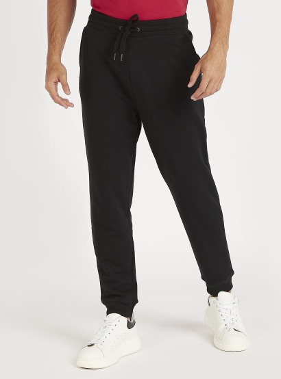 Solid Joggers with Pockets and Drawstring Closure