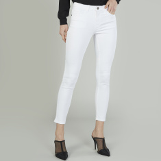 Bossini Plain Jeans with Belt Loops and Pocket Detail