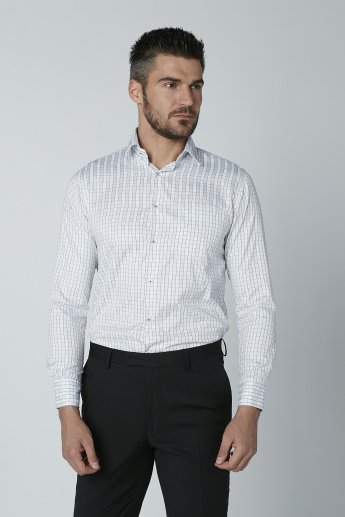 Easy Iron Checked Shirt with Long Sleeves and Complete Placket