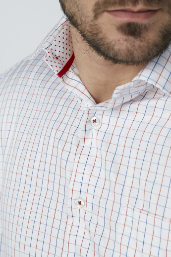 Chequered Shirt with Long Sleeves and Chest Pocket