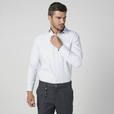 Printed Shirt with Long Sleeves and Chest Pocket