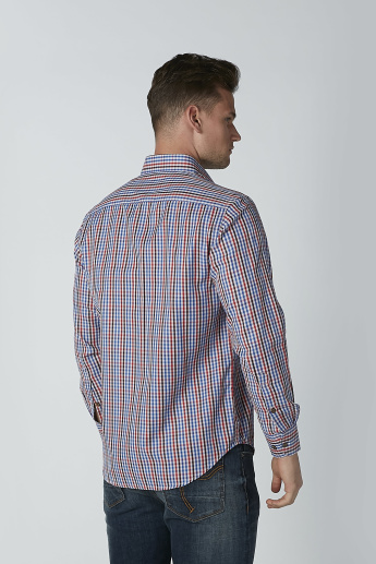 Chequered Shirt with Long Sleeves and Chest Pocket Detail