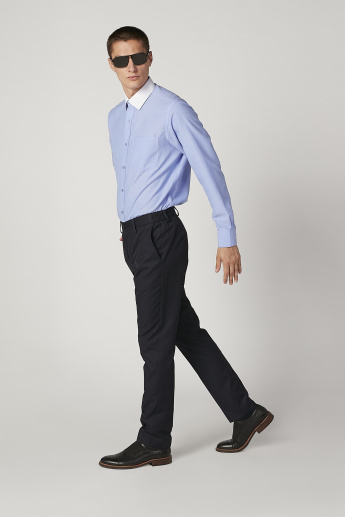 Plain Shirt with Long Sleeves and Chest Pocket