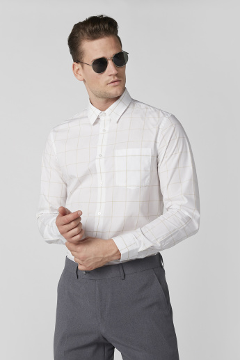 Chequered Shirt with Long Sleeves and Complete Placket