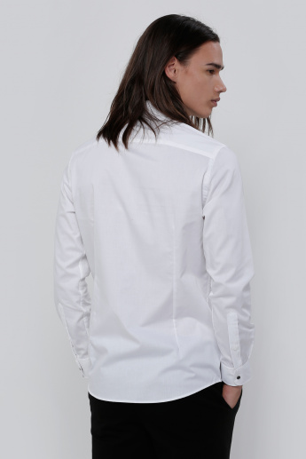 Bib Shirt with Long Sleeves in Slim Fit