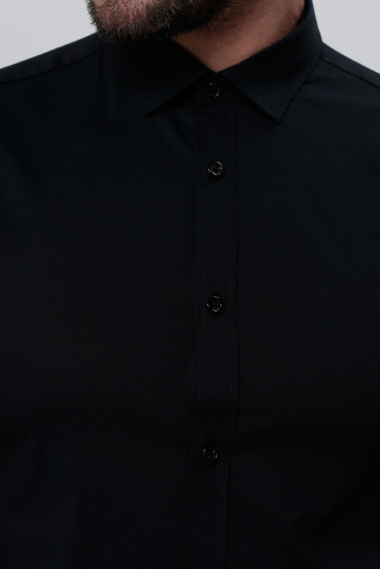 Complete Placket Shirt with Short Sleeves