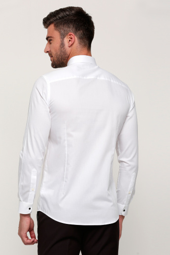 Shirt with Long Sleeves and Complete Placket