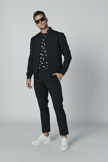 Full Length Plain Trousers with Pocket Detail