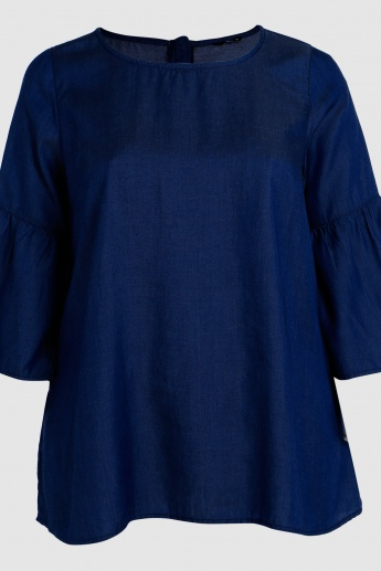 Round Neck Sleep Top with Bell Sleeves