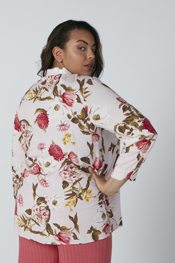 Floral Printed Shirt with Complete Placket