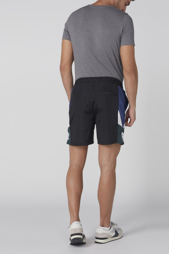Embroidered Shorts with Drawstring and Pocket Detail