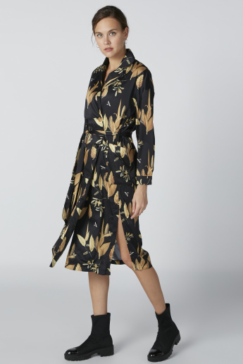 Floral Printed Dress with Long Sleeves