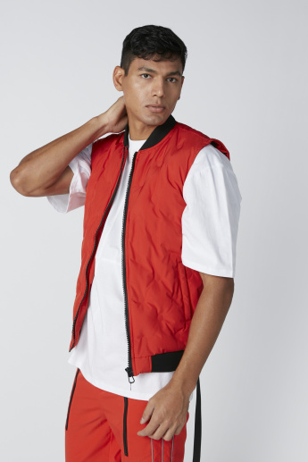 Gilet with Zip Closure and Pocket Detail