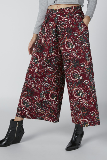 Printed Culottes with Flexi Waist and Pocket Detail