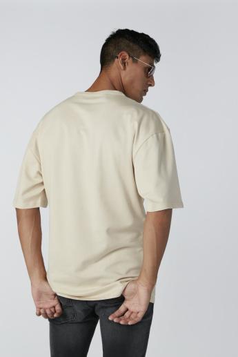 Zip Detail T-Shirt with Short Sleeves