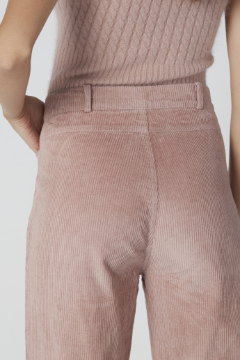 Textured Culottes with Pocket Detail